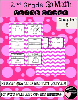 Go math chapter 5 teaching resources teachers pay teachers second grade go math chapter 5 vocabulary cards fandeluxe Image collections