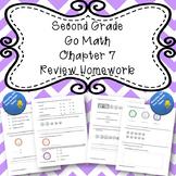 Second Grade Go Math Chapter 7 Review Homework