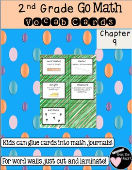 Second Grade Go Math Chapter 9 Vocabulary Cards