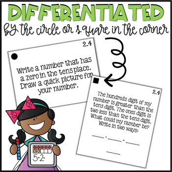 Second Grade Go Math Differentiated Math Journal Prompts - Ch. 2
