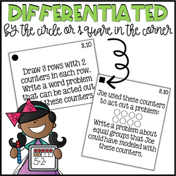 Second Grade Go Math Differentiated Math Journal Prompts - Ch. 3