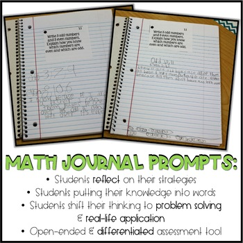 Second Grade Go Math Differentiated Math Journal Prompts - Ch. 6