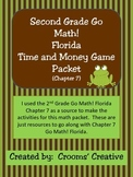 2nd Grade Go Math!  Florida Time and Money Game Packet (Chapter 7)