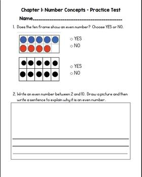 Second Grade Go Math Practice Test Bundle