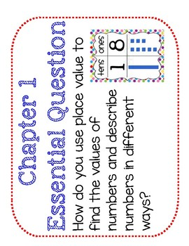 Second Grade Go Math Word Wall Chapter 1