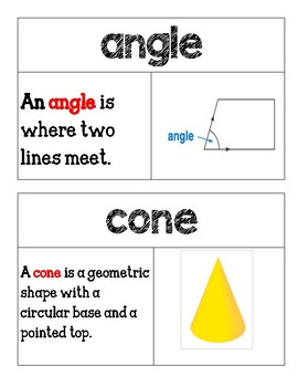 Second Grade Go Math Word Wall Chapter 11