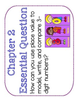 Second Grade Go Math Word Wall Chapter 2