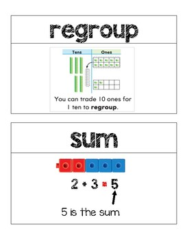 Second Grade Go Math Word Wall Chapter 4