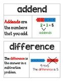 Second Grade Go Math Word Wall Chapter 9