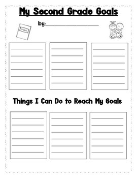 Second Grade Goal Sheet