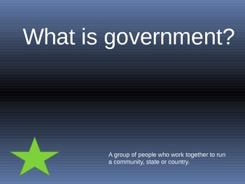Second Grade Government  Review Game