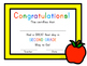 First Day of School Certificate - Second Grade / Grade Two