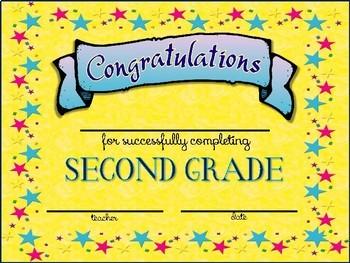 Second Grade Graduation Certifications & Invitations