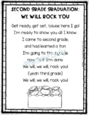 Second Grade Graduation End of Year Song Poem - We Will Rock You