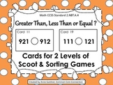 Comparing Numbers Games: Task Cards for Sorting and Scoot  {2 & 3 Digit Numbers}
