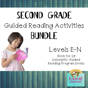 Second Grade Guided Reading Activities Bundle (Levels E-N)