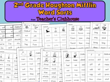 Second Grade HM Word Sorts