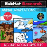 Second Grade Habitat Research - Animal Adaptations - Digit