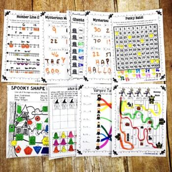 Second Grade Halloween Math