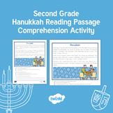 Second Grade Hanukkah Reading Passage Comprehension Activity