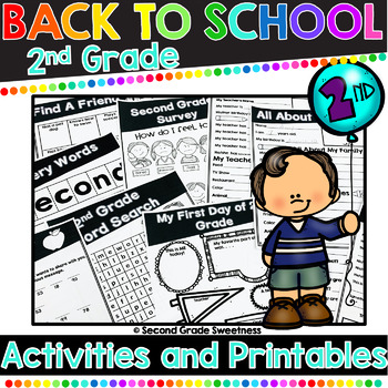 2nd Grade Here We Come! {Back to School Activities & Printables}