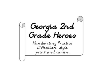 Second Grade Heroes Quotes for Handwriting D'Nealian Style