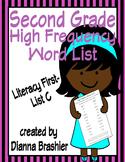 Second Grade Sight Words List C (Literacy First) Word List Homework Packet