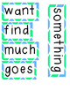 Second Grade High Frequency Words: Chevron Word Wall