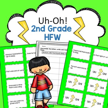 Second Grade High Frequency Words Reading Fluency Practice Uh-Oh!