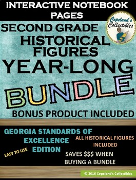 Second Grade Historical Figures Interactive Notebook Pages **YEAR-LONG BUNDLE**