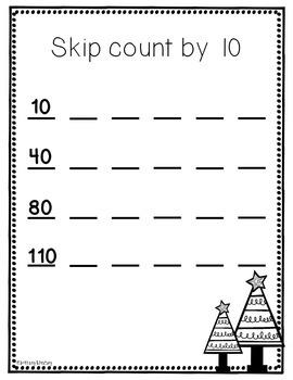 Second Grade Holiday Math Packet {NO PREP!}