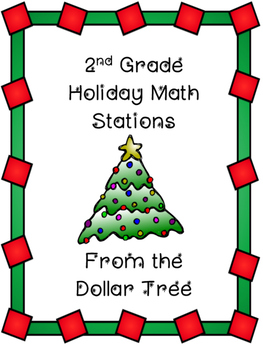 Second Grade Holiday Math Stations from the Dollar Tree!