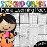 Second Grade Home Learning Pack - Distance Learning