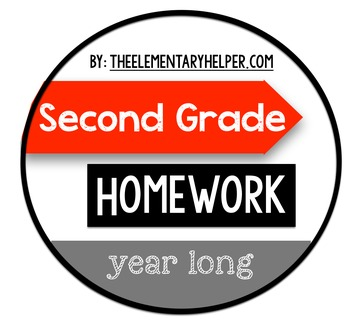 Second Grade Homework {Year-Long Daily Assignments}