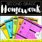 No-Prep Second Grade Spiral Review: Homework, Morning Work