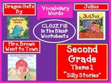 Houghton Mifflin Reading Second Grade Vocabulary Theme 1 Cloze Worksheets