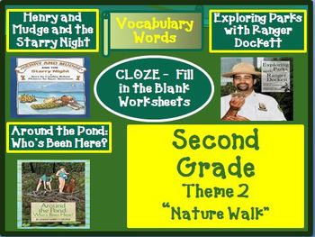 Houghton Mifflin Reading Second Grade Vocabulary Theme 2 Cloze Worksheets