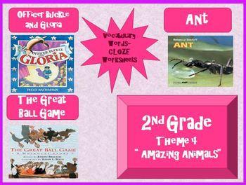Houghton Mifflin Second Grade Vocabulary Theme 4 Cloze Worksheets