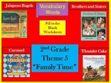 Houghton Mifflin Reading Second Grade Vocabulary Theme 5 Cloze Worksheets