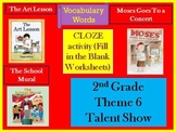 Houghton Mifflin Reading Second Grade  Vocabulary Theme 6 Cloze Worksheets
