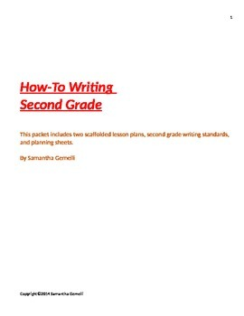 Second Grade How-To Writing
