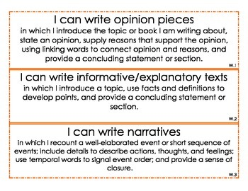 Second Grade I CAN Statements--ALL SUBJECTS