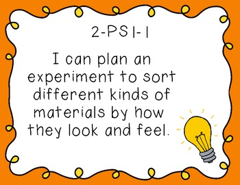 "Second Grade ""I Can"" Printables for Next Generation Science Standards (NGSS)"