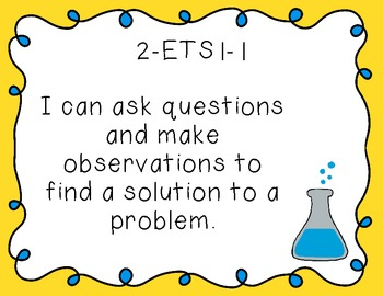 """Second Grade """"I Can"""" Printables for Next Generation Scienc"""