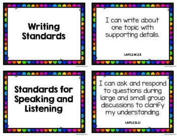 Second Grade I Can Statement Posters - Florida Standards