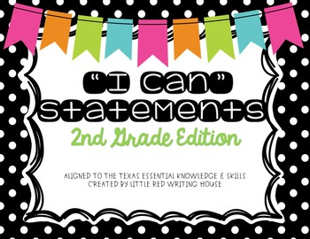 "Second Grade ""I Can"" Statements"