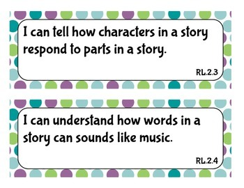 Second Grade I Can Statements CCSS