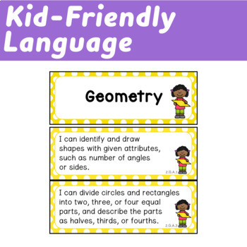 Second Grade I Can Statements (Common Core Learning Targets) Math & ELA BUNDLE