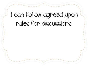 """Second Grade """"I Can"""" Statements LAFS & Common Core Speaking & Listening Plain"""