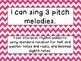 Second Grade I Can Statements -- NC Music -- Pink Chevron